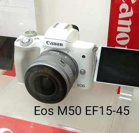 Canon EOS M50 Mark II Mirrorless 15-45mm bisa cicilan tanpa cc