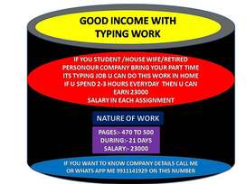 Simply type in m s word in free time and get good salary :CALL ME