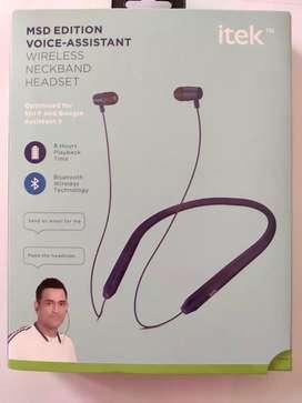 iTek Bluetooth enabled neck band headset