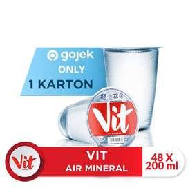 Vit Air Mineral Gelas 200ml - (1 Dus isi 48 cup)