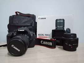Canon 700d with 50mm lens