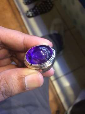 Batu kecubung kalimantan ring perak