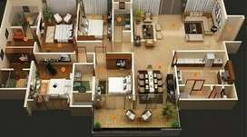 Design Interior Rumah 3D/2D termurah