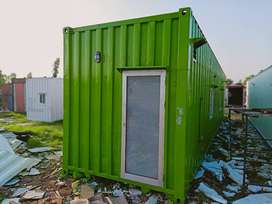 porta cabin office container marketing container with glass on front