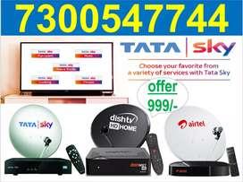 Tata sky 6 month free with fire stick free box tatasky dish tv airtel