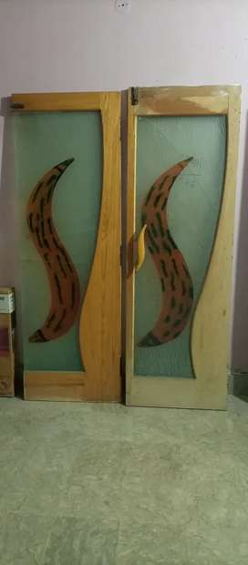 ASH WOOD GLASS DOORS