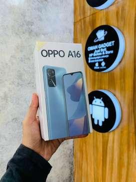 Oppo A16 3/32 New garansi resmi 1 tahun. TT juga bisa