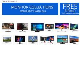 1 YEAR - WARRANTY/STARTING @ 2200/ALL KIND OF MONITOR AVAILABLE/