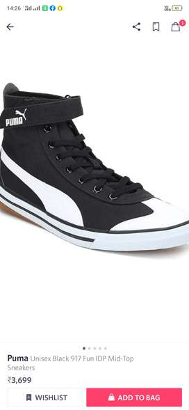 Puma mid ankle navy blue shoes