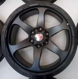 Jual velg murah R20x9.0 h6x139.7 et20 bisa untuk mobil Pajero Fortuner