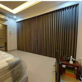 Tirai gorden gordyn gordeng vertikal vitrase blinds wallpaper