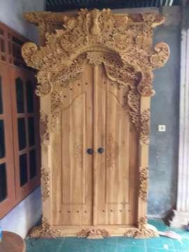 Gebyok gapuro pintu utama motif bàĺi lebar 150tingi250