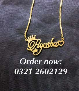 Name necklace new designs ( tags: locket pendant chain gold)