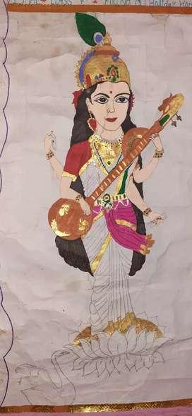Sarswati painting