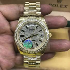 Rolex President Day Date Full Diamond Gold Authentic Original