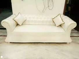 Crystal white Royal leather sofa
