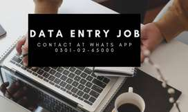 DATA ENTRY JOB AVAILABLE HERE