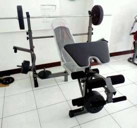 New bench press bonus stick dan beban 40kg free ongkir