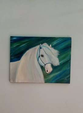 Oil painting of horse. Realistic oil painting hand made