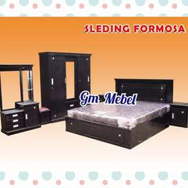 GM MEBEL Kamar Set Semi Jati Slide