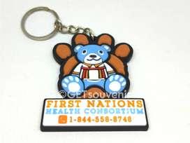 Gantungan kunci karet custom desain bebas (rubber keychain custom)
