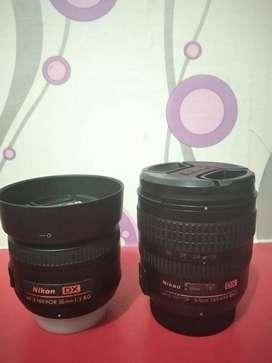 Lensa Fix Nikon 35mm (Garansi) dan Lensa 18-70mm