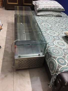 Salad bar with chiller(fridge) bought from kitchen dunya one month ago