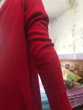cardigan merah good quality