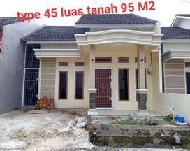 Rumah type 45 di Jakabaring cash bertahap