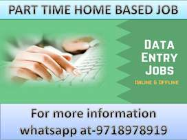 New part time work opportunity Home based job of Data entry