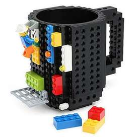 Gelas Mug Lego Build-on Brick - 936SN - Black