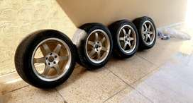 Alloy rims with tyres 17inch