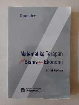 Buku Matematika Terapan untuk Bisnis dan Ekonomi