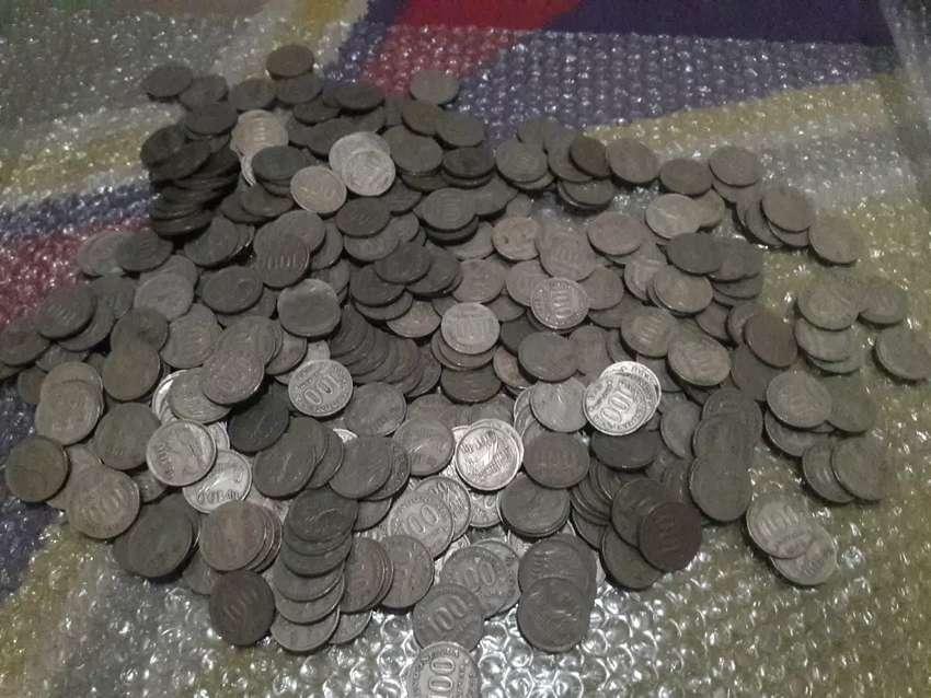 Uang koin Rp 100 tebal thn 1973 0