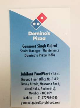 Job as Technician / Bike Mechanics for Dominos in Mumbai,