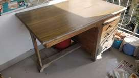 Wooden table for office and study