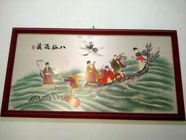 Lukisan Delapan Dewa Rajut Sutra