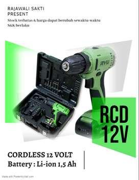 Bor Baterai /Cordless Drill 12V RYU RCD 12