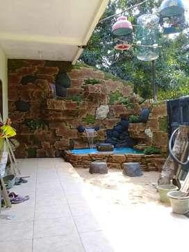 Batu alam & menerima pembuatan taman