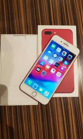IPHONE 7 PLUS WITH ALL ACCESSORIES IN RED COLOR