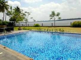 Premium fully furnished AC flat at prestige marine drive