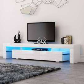 Living Room Furniture Set TV table Unit Modern Cabinet with LED lights