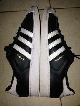 sepatu adidas superstar original authentic size 45/11 hitam like new