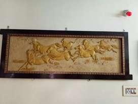 Marble horse lucky frame