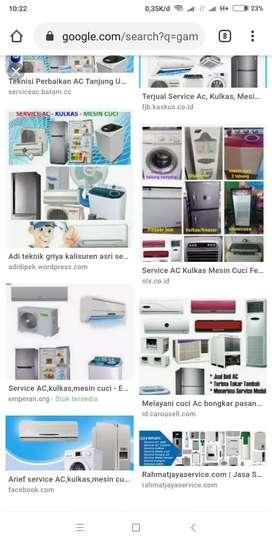 Service ac, kulkas, mesin cuci, dll