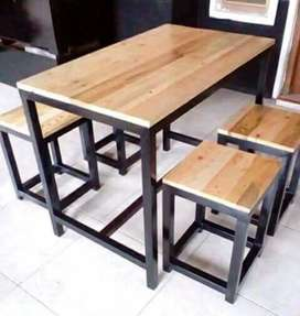Meja kayu cafe minimalis