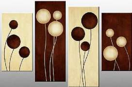 Brown Cream Abstract Painting   Abstract Art