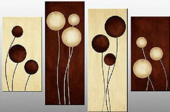 Brown Cream Abstract Painting | Abstract Art