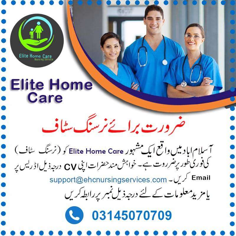 Required Male or Female Nursing Staff or Patients Care Staff 0