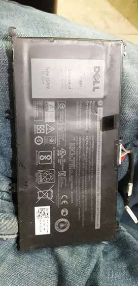 Dell 5577 gaming laptop pulled battery genuine